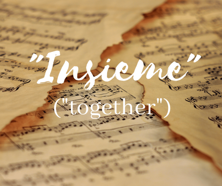 """Insieme"" (""Together"")"